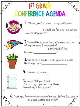 Student Led Conference Agenda