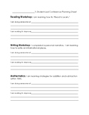 Student Led Conference Form