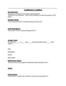 Student-Led Conference Forms