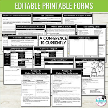 Student Led Conference Forms | Editable