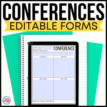 Student Led Conference Forms (Parent Teacher Conference Option)