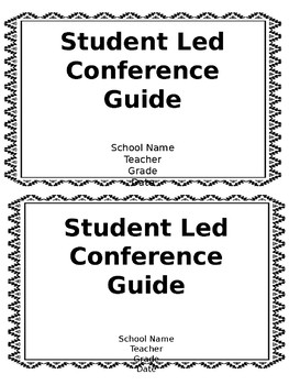 Student Led Conference Guide (Editable)