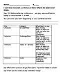 Student Led Conference Guide Sheet