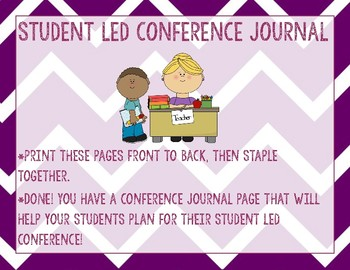 Student Led Conference Journal