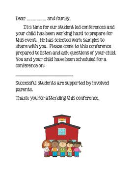 Student Led Conference Letter