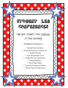 UPDATED Student Led Conference PACKET!
