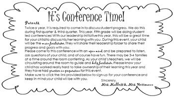 Student Led Conference Pack