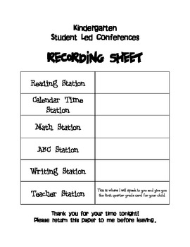 Tips for Holding Student-Led Conferences