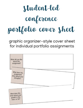 Student-Led Conference Portfolio Assignment Cover Sheet