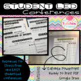 Student Led Conference Portfolio {Digital Google Classroom & Printable Versions}