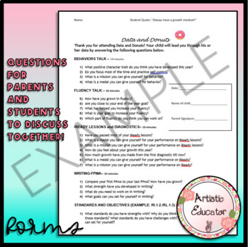 Student Led Conference Powerpoint and Forms