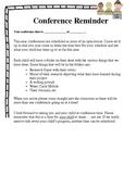 Student Led Conference Reminder