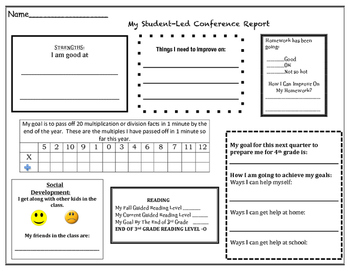 Student Led Conference Report