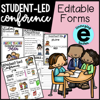 Student Led Conference Sheets - EDITABLE
