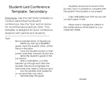 Student-Led Conference Template: Secondary