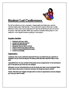 Student Led Conference outline
