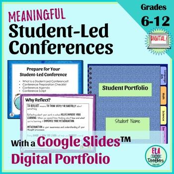 Student-Led Conferences Digital Student Portfolios | Distance Learning