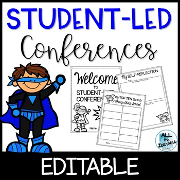 Student Led Conferences {Editable}