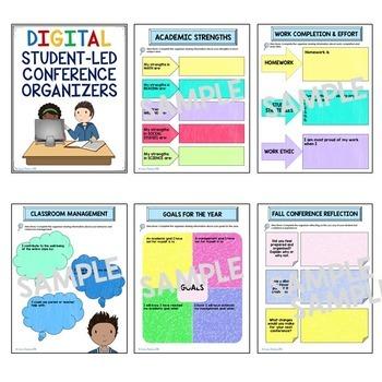 Student Led Conferences Gone DIGITAL and Printable