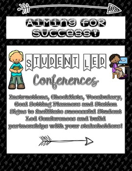 Student Led Conferences - Instructions, Planner, Vocabulary, Smart Goals