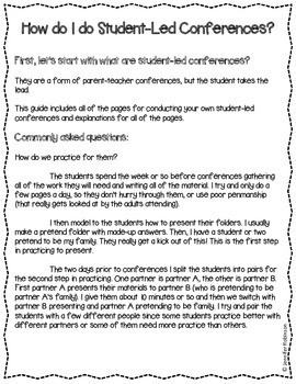 Student-Led Conferences Made Easy
