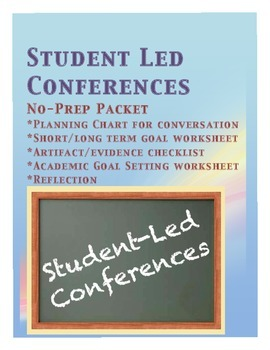 Student Led Conferences No Prep Packet