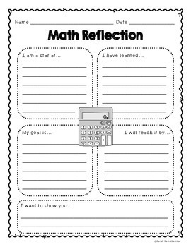 Student-Led Conferences:  Reflection and Goal Setting Forms