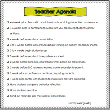Student-Led Conferences Resources