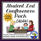 Student Led Conferences Templates with Goals, Reflections and Directions