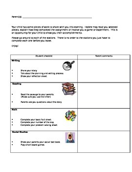 Student Led Conferences package