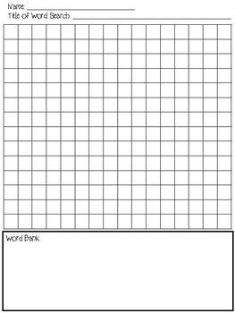 Student-Led Design Your Own Word Search