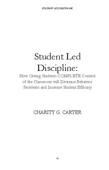 Student Led Discipline eBook