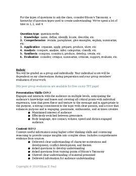 Student Led Discussions Framework