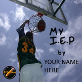Student Led I.E.P. Meeting Editable Power Point/PDF: Basketball Theme