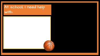 Student Led I.E.P. Meeting Editable Power Point/PDF: Basketball Theme