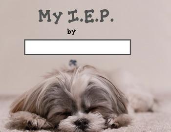 Student Led I.E.P. Meeting Editable Power Point/PDF: Dog Theme