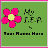 Student Led I.E.P. Meeting Editable Power Point/PDF: Flower Theme