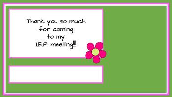 Student Led I.E.P. Meeting Editable Power Point/PDF: Flower Theme