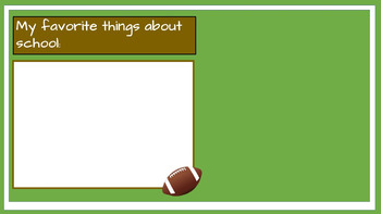 Student Led I.E.P. Meeting Editable Power Point/PDF: Football Theme