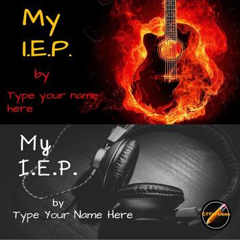 Student Led I.E.P. Meeting Editable Power Point/PDF: Music Theme