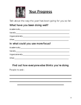 Student Led IEP Prep Sheet