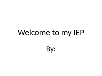 Student Led IEP Presentation Template