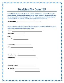 Student-Led IEP Workbook