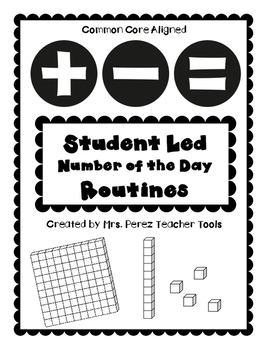 Student Led Number of the Day Packet