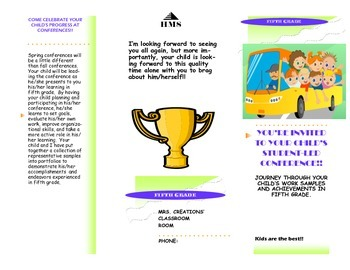 Student-Led Conference Parent Brochure