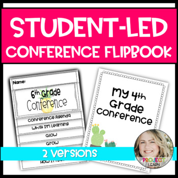 Student Led Parent Teacher Conference Flipbook and Worksheets Pineapple Theme