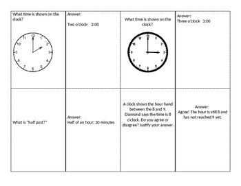 Student Led Quiz Game: Time