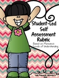 Student-Led Self Assessment: Marzano Levels of Understanding