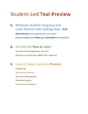 Student-Led Text Preview