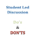 Student Led or Shared Inquiry Discussion Dos and Don't Posters